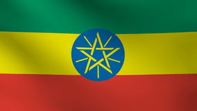Ethiopia flag Royalty Free Stock Photo