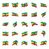 Ethiopia flag, vector illustration Royalty Free Stock Photos