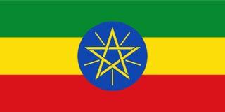 ethiopia flagga stock illustrationer