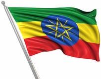 ethiopia flagga vektor illustrationer