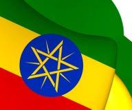 ethiopia flagga royaltyfri illustrationer