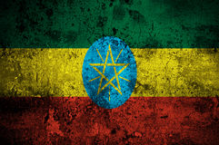 ethiopia flaggagrunge Arkivfoton