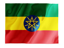 Ethiopia fluttering. Fluttering image of the Ethiopian national flag Stock Photo