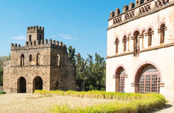 Ethiopia. Gondar, ancient buildings in the Imperial quarter Royalty Free Stock Photography