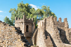 Ethiopia. Gondar, ancient buildings in the Imperial quarter Royalty Free Stock Photos