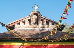 Ethiopia. Gondar,  the facade of the Debre Birhan Selassie orthodox church Royalty Free Stock Image