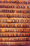 Ethiopia. Gondar, the faces of angels in the ceiling of the Debre Birhan Selassie orthodox church Stock Images