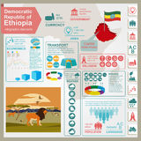 Ethiopia infographics, statistical data, sights Royalty Free Stock Photo