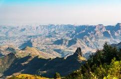 Ethiopia. Kosoye, view on the Semien mountains Royalty Free Stock Photography