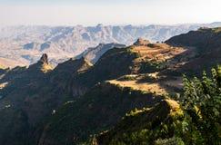 Ethiopia. Kosoye, view on the Semien mountains Stock Images