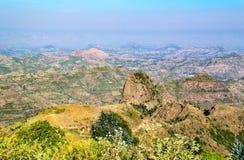Ethiopia. Kosoye, view on the Semien mountains Stock Photos