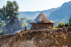Ethiopia. Lalibela,  farmer's huts in the outskirts of the country Royalty Free Stock Images