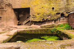 Ethiopia, Lalibela. Moniolitic rock cut church Royalty Free Stock Photos