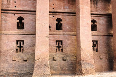 Ethiopia, Lalibela. Moniolitic rock cut church Royalty Free Stock Photography