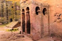 Ethiopia, Lalibela. Moniolitic rock cut church Royalty Free Stock Image