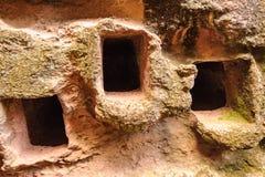Ethiopia, Lalibela. Moniolitic rock cut church Royalty Free Stock Photos
