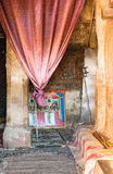 Ethiopia. Macalle, a holy painting in the old Abreha Atsbeha rock church Royalty Free Stock Image