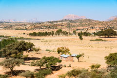 Ethiopia. Macalle, panoramic view from the old Abreha Atsbeha rock church Royalty Free Stock Image