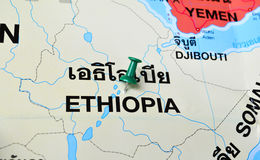Ethiopia map Stock Photos