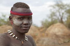 Mursi man Ethiopia Royalty Free Stock Photos