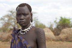 Mursi woman, Ethiopia Stock Image
