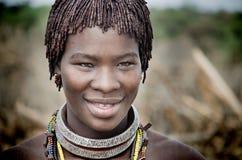 Ethiopia, Portrait of unidentified Hamer woman Royalty Free Stock Image