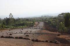 Ethiopia road block Stock Image