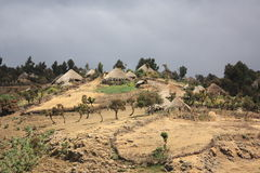 Ethiopia Simien mountain village Royalty Free Stock Photo