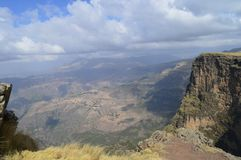 Ethiopia. Travel to Simien mountains. East African rift. On the road to the highest point of Ethiopia, Ras Dashen royalty free stock image