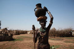 Ethiopia. The tribal people in the omo valley are interesting models Royalty Free Stock Photo