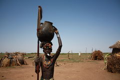 Ethiopia. The tribal people in the omo valley are interesting models Stock Photos