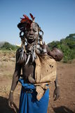 Ethiopia. The tribal people in the omo valley are interesting models Stock Images