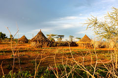 Ethiopia. Village near Omo Valley, Southern Ethiopia Stock Photography