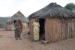 African village and women Stock Images