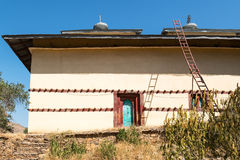 Ethiopia. Yeha, a restored building in  the Temple of the Moon Royalty Free Stock Photography