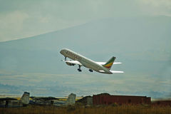 Ethiopian Airlines aplana imagens de stock royalty free