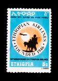 Ethiopian Airlines, 30ste verjaardag, serie, circa 1976 Stock Foto's