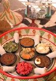 Ethiopian appetizer basket Stock Photos