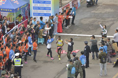 Ethiopian athletes win the championship Stock Photography