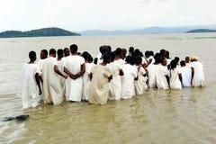 Ethiopian baptism Stock Images
