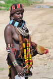 Ethiopian Benna Woman with chicken Royalty Free Stock Photo