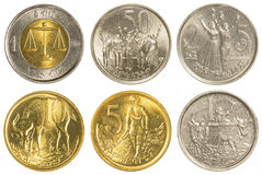 Ethiopian birr coins collection set Royalty Free Stock Images