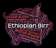 Ethiopian Birr Indicates Currency Exchange And Coinage Stock Photography