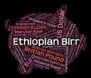 Ethiopian Birr Indicates Currency Exchange And Coinage. Ethiopian Birr Meaning Foreign Currency And Exchange Stock Photography