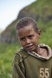 Ethiopian boy. Young boy en route in Ethiopia Royalty Free Stock Image