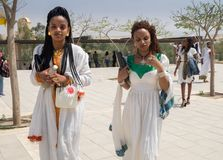 Ethiopian christianity pilgrims at Christ Baptism place - Qasr E royalty free stock images