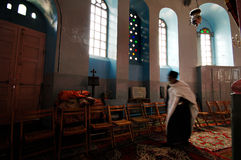 Ethiopian church in Jerusalem Stock Photo