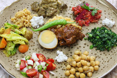 Ethiopian cuisine royalty free stock photography