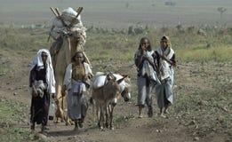 ethiopian familj Royaltyfri Fotografi
