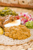 Ethiopian Feast - Injera Stock Photos
